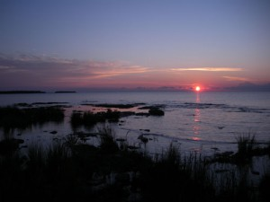 Sunrise from Toft Point State Natural Area