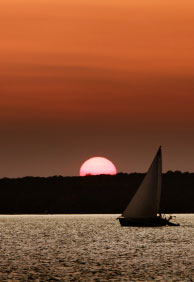 Sailboat at Sunset